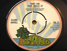 CLAIRE HAMILL - WHAT ARE YOUR SMILES AT / THE SUTHERLAND BROTHERS BAND - THE PIE