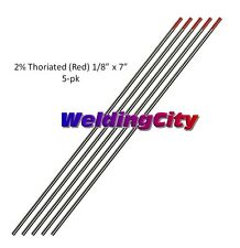 """5-pk TIG Welding Tungsten 2% Thoriated (Red) 1/8""""x7"""" Free Ship   US Seller"""