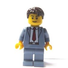 Lego Minifigure Sand Blue Suit Red Tie Groom Usher Best Man Wedding Business