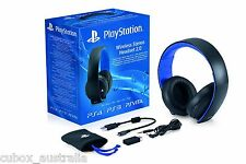 Genuine Sony PS4 PS3 PS Vita 2.0 Wireless 7.1 Stereo Headset New & Sealed