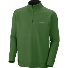 Men's Columbia Hart Mountain Fleece 1/2 Zip Softshell Pullover Shirt Jacket 2 XL