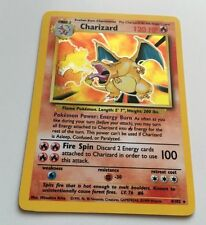 Charizard Pokemon Card Base Set 4/10 Holo Near Mint