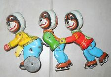 CHAMP ON ICE SKATING FLIM LEMEZ TIN TOY 50's VINTAGE OLD WIND UP NO TPS JAPAN