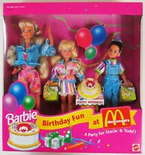 Barbie Birthday Fun at McDonald's Gift Set A Party For Stacie & Todd (NEW)