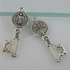 12161 25PCS Saint Benedict Peace PAX Cross Connector Exorcize Demon Key Pendant