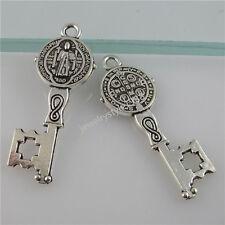 12161 25PCS Saint Benedict Peace PAX Cross Connector Exorcize Demon Key Pendant
