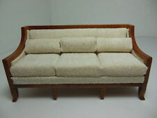 Dollhouse Miniatures Furniture 3220vewn Walnut Upholstered Couch