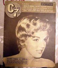 "MARILYN MONROE:VINTAGE SPANISH MAGAZINE UNIQUE COVER-""CINE en 7 DIAS"" 1962-SEE!!"