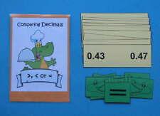 Teacher Made Math Center Resource Game Comparing Decimals