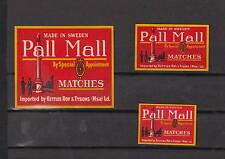 Ancienne étiquette  allumettes Suède  AZ3035 Pall Mall 1