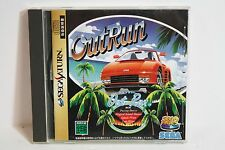 OUTRUN W/ Spine Out Run Sega Saturn SS Japan Import Works on White Console RARE