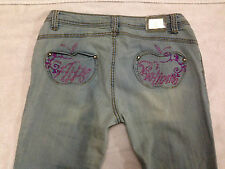 Apple Bottom Skinny Pink Studded Womens Size 7/8 Jeans Pants ~ USED
