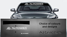 MG Xpower Sunstrip Decal and Back + smaller decal  with NEW logo MGX
