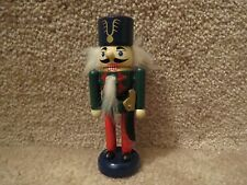 Wooden Mini Nutcracker with Knife on Side - Green