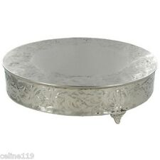 "14"" Silver Ornate Cake Stand Plateau.On Sale. New Shabby Chic Wedding Decor"