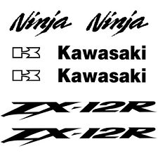 Kit 8 Stickers ZX12R ZX 12R Kawa