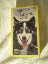 NATIONAL GEOGRAPHIC VIDEO- THOSE WONDERFUL DOGS (VHS, 1990)