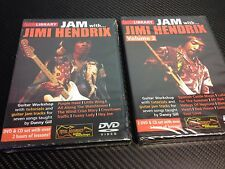 Lot of 2 Lick Library DVD's Jam with Jimi Hendrix Vol 1 & 2  *Free Shipping*