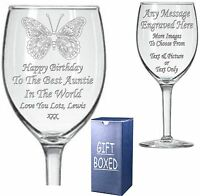 Engraved Wine Glass - Sister - Auntie- Aunt - Niece -  Birthday Gift - Present
