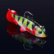 1pcs Soft Plastic Lures With 2 Hooks Fishing Lure Soft Bait Swimbaits Jig Tackle