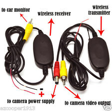 2.4G Wireless RCA Video Transmitter Receiver F Car Rear View Camera Cam Monitor
