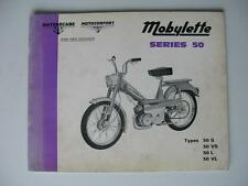 MOBYLETTE SERIES 50 - Moped Spares List - Feb 1972 - #2000 ex 71 11 09