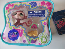 HASBRO LITTLEST PET SHOP ON THE GO MONKEY WITH CASE