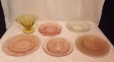 Lot Of Assorted Depression Glass Pink & Yellow -Jeanette, Macbeth-Evans (KP189)