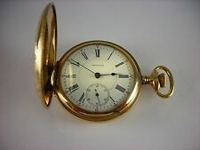 Antique Waltham Vanguard 18s pocket watch. 1901. Lovely decorated Hunter's case!