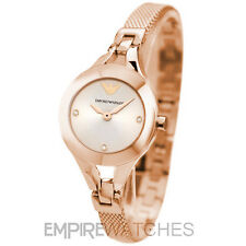 *NEW* LADIES EMPORIO ARMANI ROSE GOLD CHIARA MESH WATCH - AR7362 - RRP £299