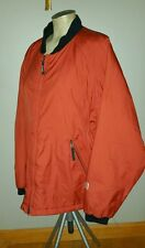 BURTON HEATERS SNOWBOARD JACKET MENS L CRANBERRY ZIP UP LIGHT QUILTED COAT SKI