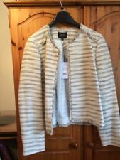 Ladies Fringed Edge To Edge Jacket Size 18 NWT