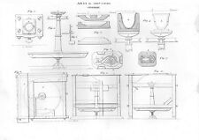 Stampa antica PRODUZIONE STOVIGLIE varie attrezzature 1848 Old print