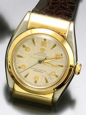 Rolex Watch Green Gold & Steel Oyster Perpetual Automatic Hooded Bubble Back