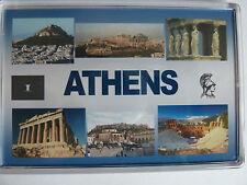 ATHENS - JUMBO FRIDGE MAGNET -  Parthenon Acropolis Mt Lycabettus
