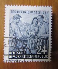 EBS East Germany DDR 1953 Stamp Day Tag der Briefmarke FU Michel 396