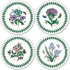 Pimpernel Botanic Garden Round Coasters Drink Mats Set of 4 Floral Flowers New