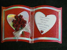 Peronalised KEEPSAKE BOOK OUR 10th Wedding Anniversary Card DOZEN RED ROSES