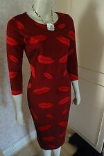 LOVE LABEL LIPSTICK RED BODYCON DRESS SIZE 10 & 12 IN STOCK RRP £45