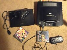 Neo Geo Cd console + arcade pad - controller + 2 games