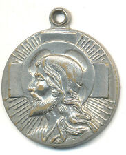 JESUS CHRIST CROSS VINTAGE HOLY RELIGIOUS MEDAL METAL CHARM CATHOLIC CHRISTIAN
