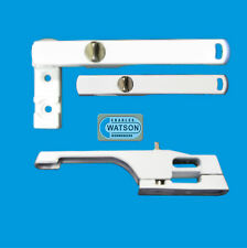 White Inline Locking Window Handle Casement Lock Fastener UPVC Thumbturn KEYLESS