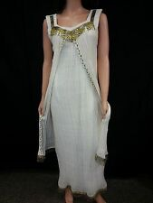 Vintage 50 60's Dress Gown Beaded Flapper Hippie Goodness Bride Cleopatra RARE