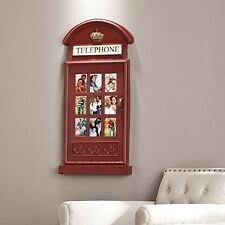 Southern Enterprises Phone Booth Wall Mount Photo Frame Ws2071 New