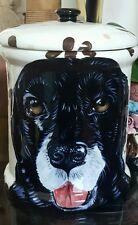 Custom Ceramic DOG TREAT Cookie Jar black lab Labrador urn any BREED large