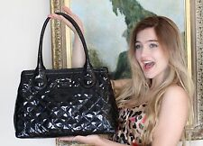 KATE SPADE RICH BLACK RARE Patent Leather Tutti Frutti Maryanne bag tote SHINE