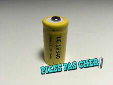 1 Piles Accus Rechargeables CR123A 16340 3.7V 1500Mah Li-ion Batteries