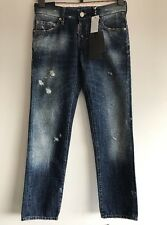DSQUARED2 Short Crotch Tight Bottom WOMEN Slim Jeans Distressed Blue Size 42