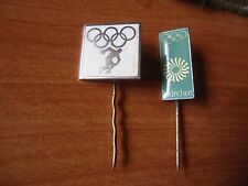 2 OLYMPIC PINS MUNICH 1972