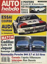 AUTO HEBDO n°650 du 9 Novembre 1988 JAGUAR SOVEREIGN3.6 CADILLAC SEVILLE